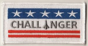 NASA Space Shuttle Challenger (OV-099) Embroidered Flag Patch